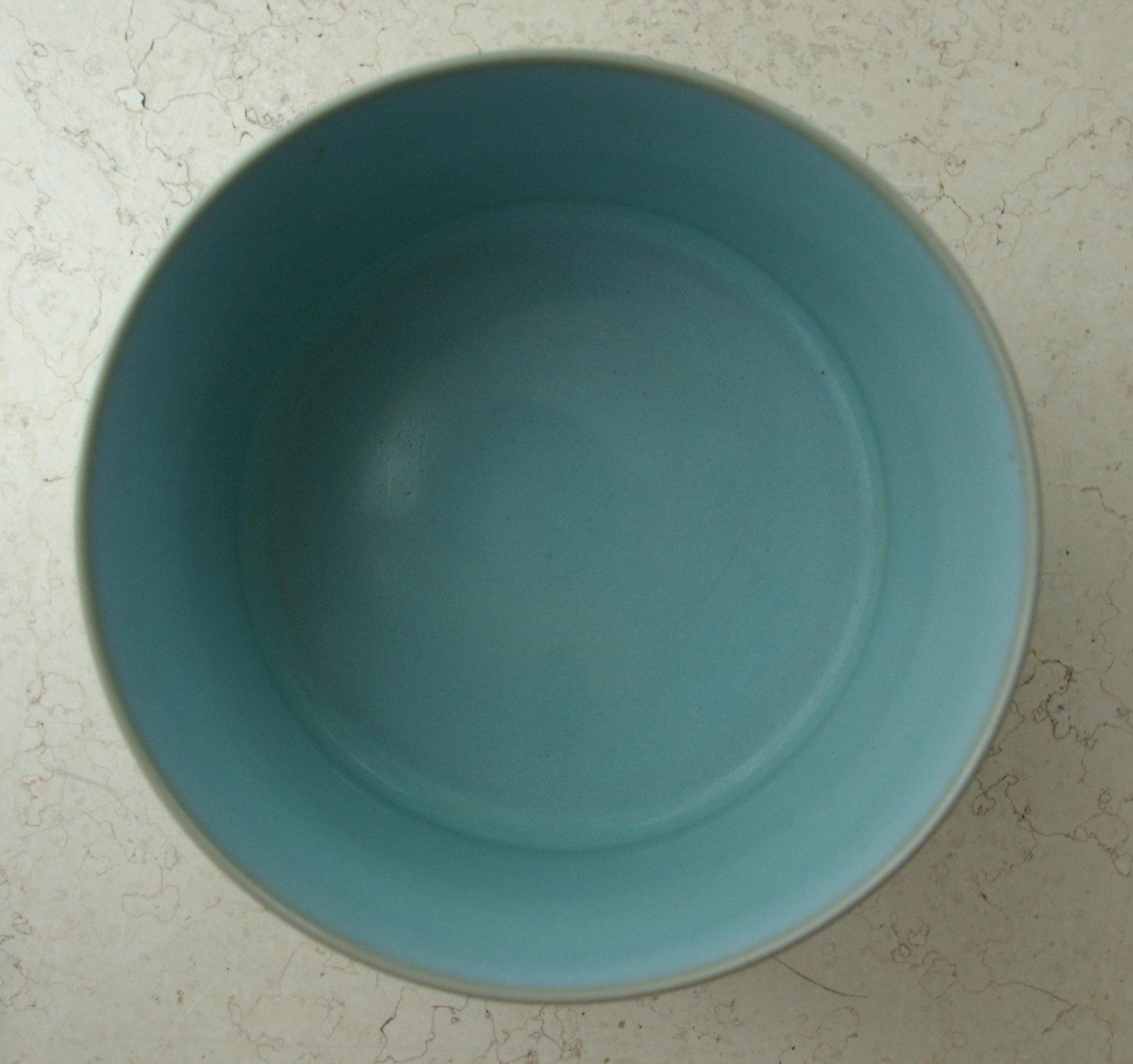三足天青罐