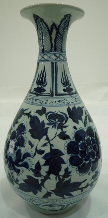 青花牡丹玉壶春瓶