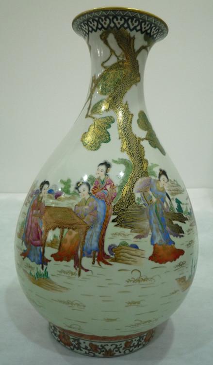 描金玉壶春瓶