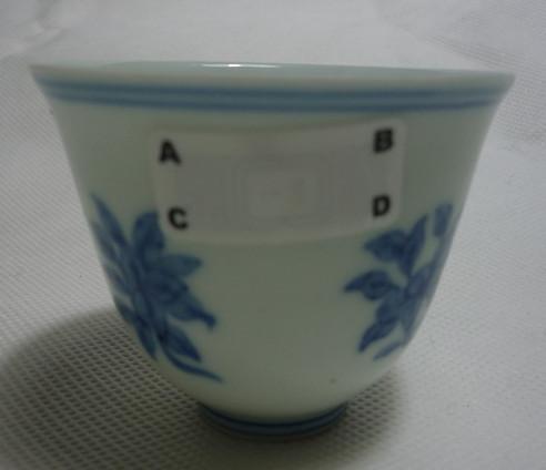 四季花卉纹碗