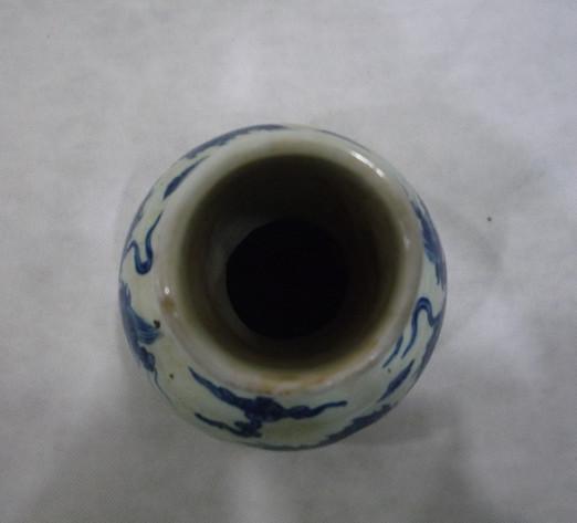 青花龙纹天球瓶