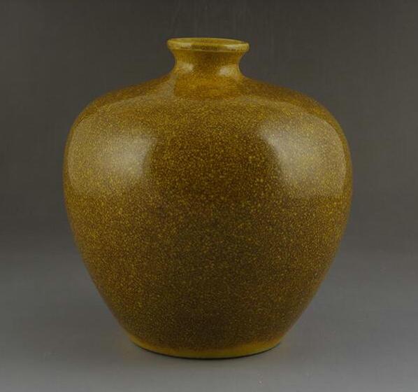 黄釉小口瓶